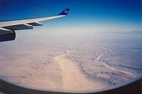 flying over Egypt