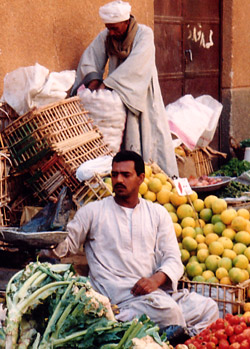 Selling vegetables at the Tuesday Market