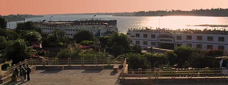 Cruiseboats at Kom Ombo