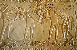 Dancing girls in Kheruef's tomb