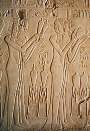 Princesses in Kheruef's tomb