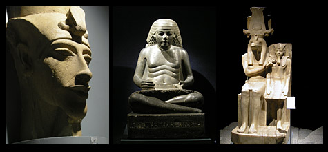 Statues at Luxor Museum