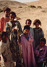Local children at Birket Habu