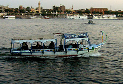 Motor boat across the NIle