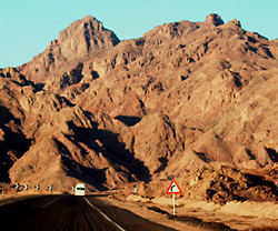 The road to Hurghada