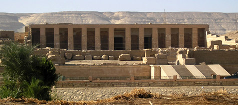 The temple of Seti I at Abydos