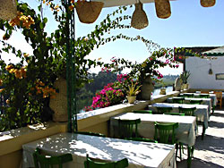 Roof terrace at the Gezira Hotel