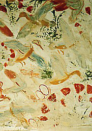 Flying birds in Khonsu's tomb