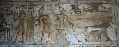Rameses III in the 'Fields of Iaru'