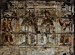 Rameses III before Osiris