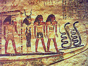 Decoration in the tomb of Rameses IX