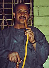 Mohammed Maghella with shisha