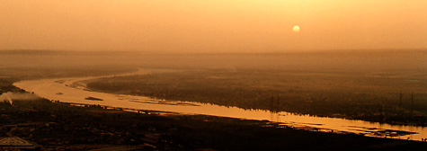 Sunrise over the Nile and Luxor