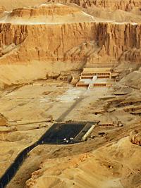 Arial view of Deir el-Bahri