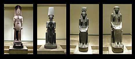Statues in the Cachette Hall, Luxor Museum