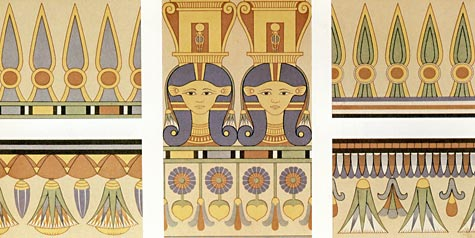 Friezes from Theban tombs by Prisse d'Avennes