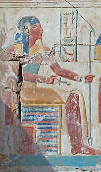 Human-headed god Anubis