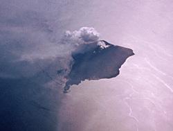 Mount Stromboli erupting