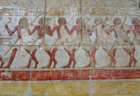 Reliefs in the Temple of Hatshepsut