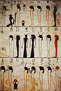 Stick-figures in the tomb of Tuthmose III