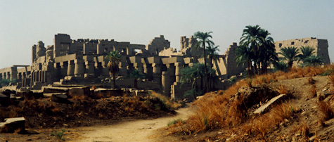 Path to the shrines at Karnak