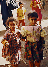Children on the West Bank