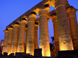 Colonnade of Amenhotep III at Luxor Temple
