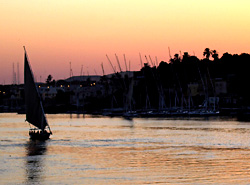 End of a day in Aswan