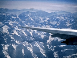 Flying over the Italian Alps