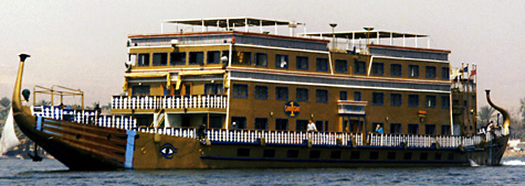 Old-style cruise boat on the River Nile