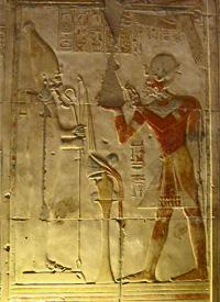 Osiris and Seti I at Abydos