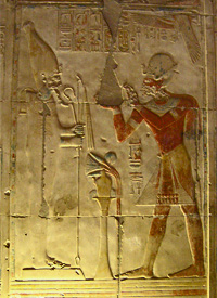 Osiris and Seti I at Abydos