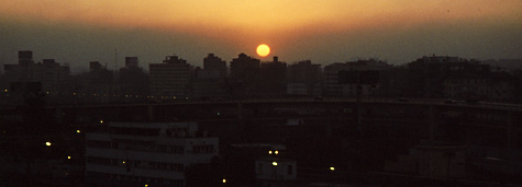 Sunrise over a Cairo skyline