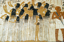 Female mourners