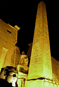 Obelisk of Rameses II at Luxor Temple