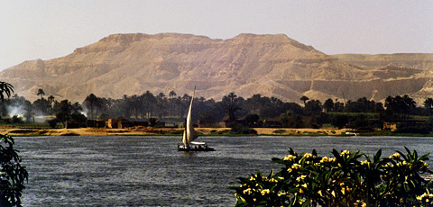 Nile and Theban Mountains