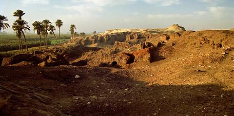 Town site at el-Hiba