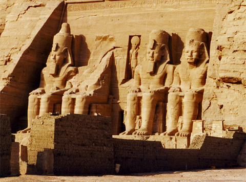 The Temple of Rameses II at Abu Simbel