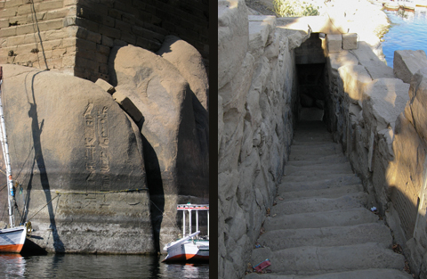 Boulder inscriptions and Nilometer