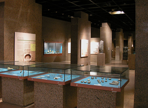 The main exhibition hall in the Nubian Museum
