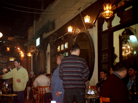 el-Fishawi's coffee-shop in Cairo