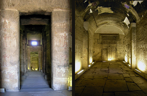Shrines in the Temple of Seti I