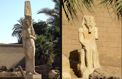 Meritamun and Rameses II