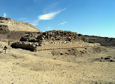 Small Dynasty III step pyramid