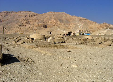 Remains of the temple of Ay and Horemheb