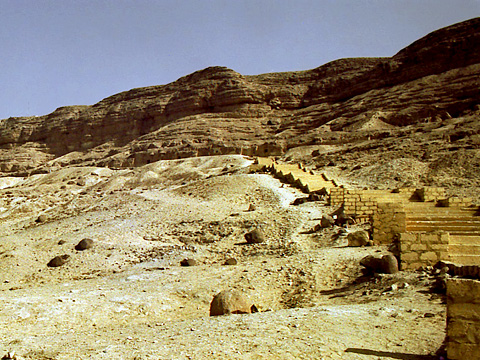Steps to the tombs at Beni Hasan