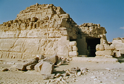 Entrance to the tomb of Khentkawes