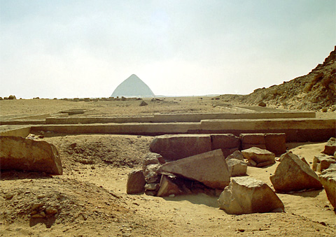 View towrds the Bent Pyramid from the Red Pyramid