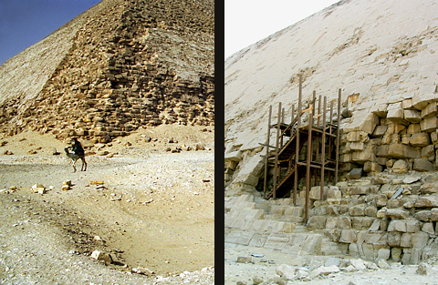 South-east corner and pyramid entrance