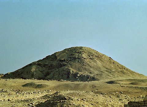 Pyramid of Djedkare-Isisi from the north